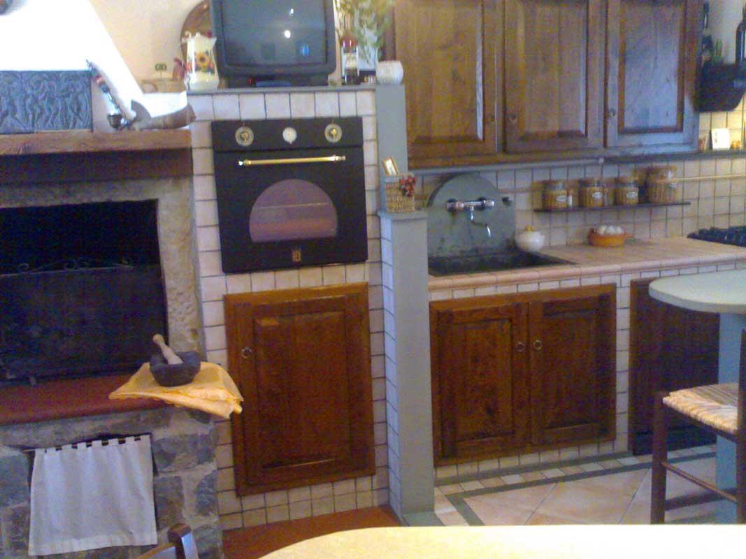 Galleria fotografica cucina in muratura con camino impresa edile arkimede - Cucina con camino ...