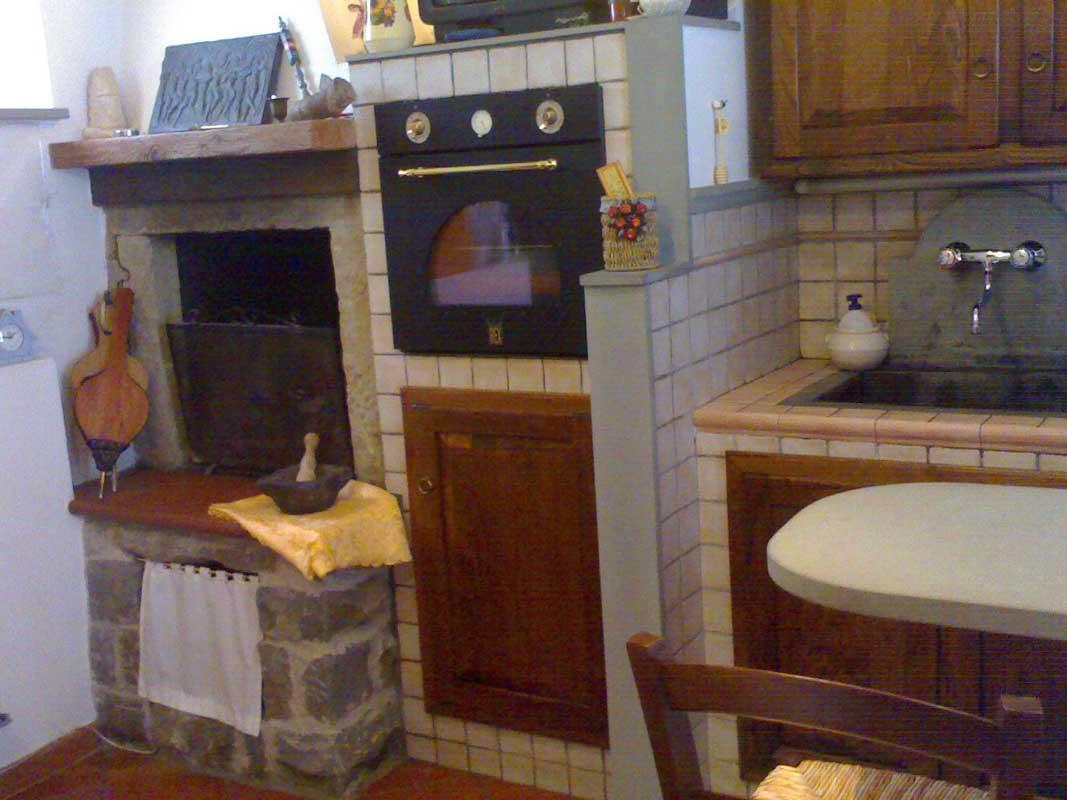 Galleria Fotografica Cucina In Muratura Con Camino Impresa Edile Arkimede