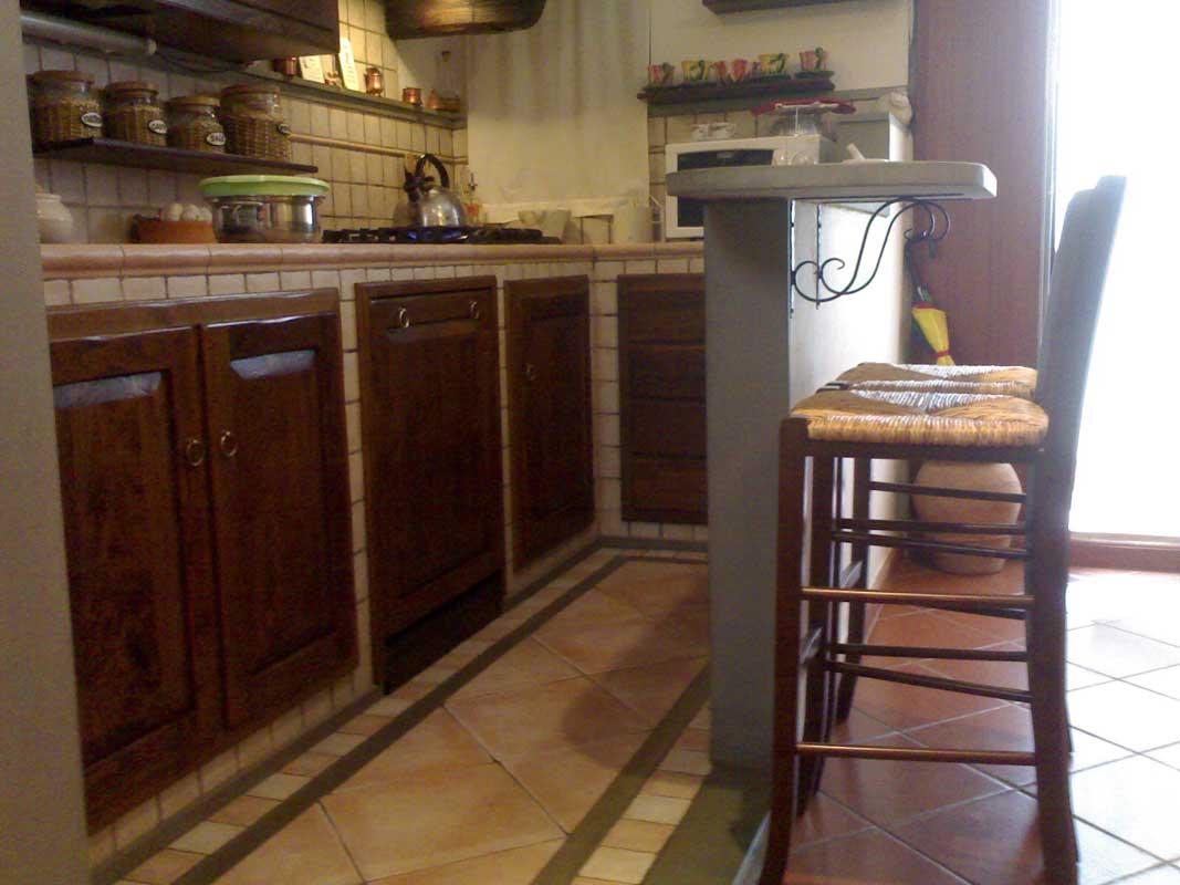 Cucina in muratura con camino-8 | Impresa Edile Arkimede