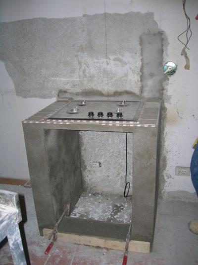 Cucina in muratura e cartongesso-4 | Impresa Edile Arkimede