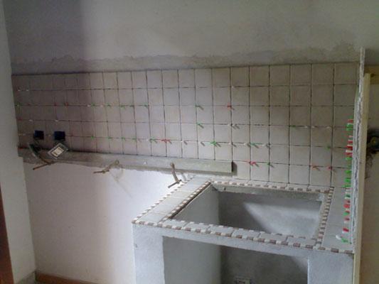 Cucina in muratura e cartongesso  Impresa Edile Arkimede